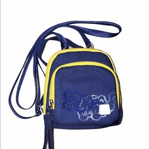 Haiku size small blue crossbody travel bag